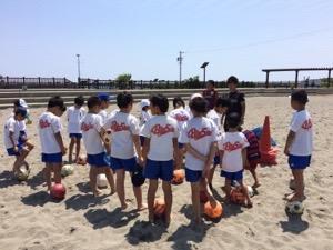 ビーチサッカー教室&U15女子サッカースクール開催